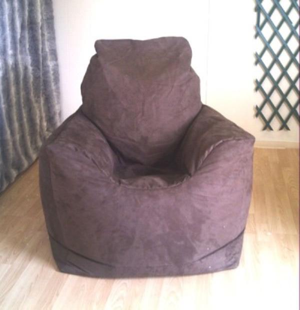 Zippy Uk Ltd Faux Suede Bean Bag Armchair