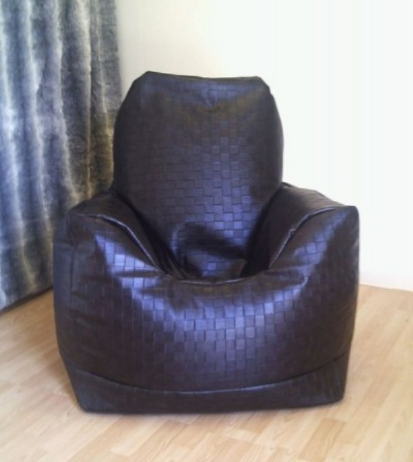 Zippy Uk Ltd Faux Leather Mansize Bean Bag Armchair