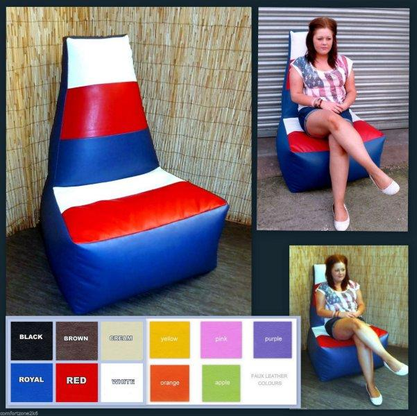 ADULT TRI COLOUR HB BEANBAG CHAIR