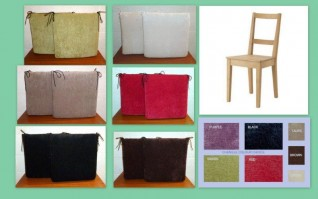 CHENILLE SQUARE SEAT CUSHIONS