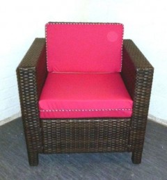 FANCY PIPED WATERPROOF RATTAN CUSHIONS
