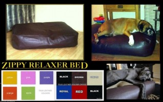 FAUX LEATHER BEANBAG DOG BED