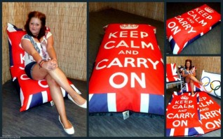 KEEP CALM & CARRY ON BEANBAG