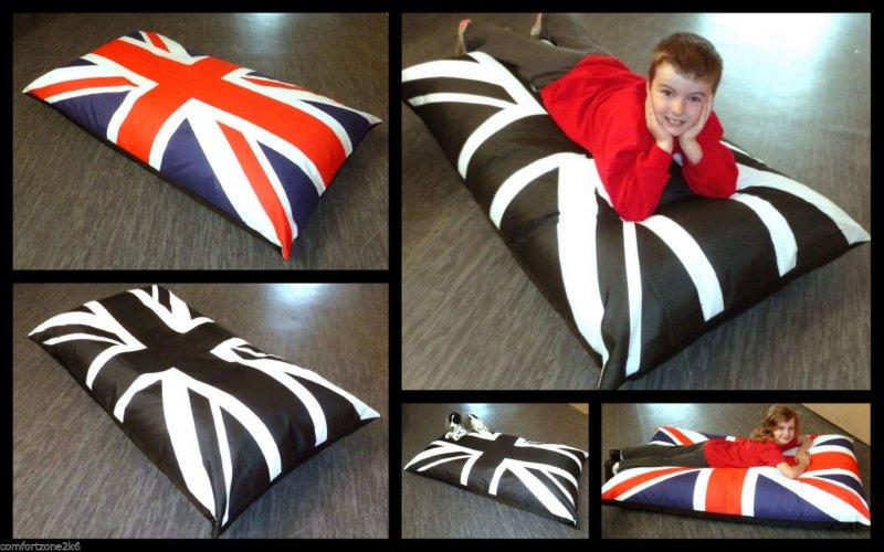 UNION JACK BEANBAG FLOOR CUSHIONS