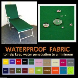 WATERPROOF GARDEN SUNBED CUSHIONS