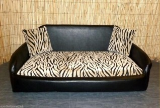 ZEBRA SOFA DOG BED