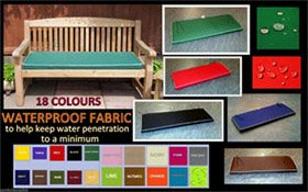PIPED BENCH CUSHIONS